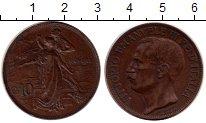 Изображение Монеты Италия 10 сентесим 1911 Бронза XF 50 лет королевству