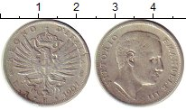 Изображение Монеты Италия 1 лира 1907 Серебро XF Виктор Эммануил III,