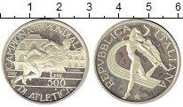 Изображение Монеты Италия 500 лир 1987 Серебро Proof- ЧМ по легкой атлетик
