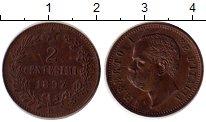 Изображение Монеты Италия 2 сентесимо 1897 Бронза UNC- Умберто I
