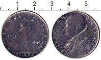 Изображение Монеты Ватикан 100 лир 1956 Никель UNC- Вера