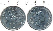 Изображение Монеты Великобритания Гернси 10 пенсов 1986 Медно-никель UNC-
