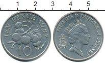 Изображение Монеты Гернси 10 пенсов 1987 Медно-никель UNC- Елизавета II