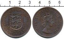 Изображение Монеты Остров Джерси 1/12 шиллинга 1960 Бронза XF+ 300 лет со дня восхо