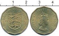 Изображение Монеты Остров Джерси 1/4 шиллинга 1964 Латунь UNC- Елизавета II