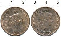 Изображение Монеты Франция 5 сантим 1912 Бронза UNC-