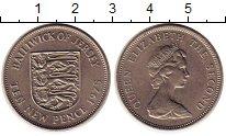 Изображение Монеты Остров Джерси 10 пенсов 1975 Медно-никель UNC- Елизавета II