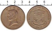 Изображение Монеты Филиппины 1 песо 1972 Медно-никель XF- Хосе Ризал