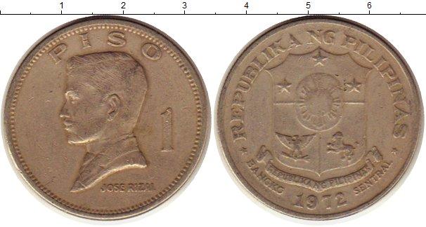 Картинка Монеты Филиппины 1 песо Медно-никель 1972