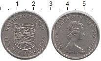 Изображение Монеты Остров Джерси 10 пенсов 1975 Медно-никель XF Герб,львы