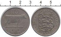 Изображение Монеты Гернси 10 пенсов 1968 Медно-никель XF Корова