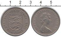 Изображение Монеты Остров Джерси 10 пенсов 1968 Медно-никель XF Герб,львы