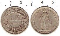 Изображение Монеты Швейцария 2 франка 1875 Серебро VF