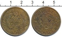 Изображение Монеты Тунис 2 франка 1926 Латунь XF Герб