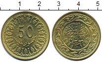 Изображение Монеты Тунис 50 миллим 1983 Латунь XF Герб