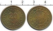 Изображение Мелочь Тунис 20 миллим 1960 Латунь XF Герб