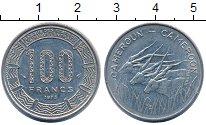 Изображение Монеты Камерун 100 франков 1975 Медно-никель XF+ Антилопы