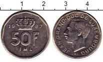 Изображение Монеты Люксембург 50 франков 1987 Медно-никель XF Герцог Жан