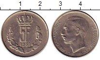 Изображение Монеты Люксембург 5 франков 1981 Медно-никель XF Герцог Жан