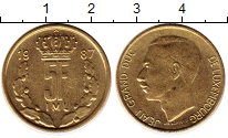 Изображение Монеты Люксембург 5 франков 1987 Латунь XF Герцог Жан
