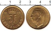 Изображение Монеты Люксембург 5 франков 1989 Латунь XF Герцог Жан