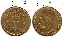 Изображение Монеты Люксембург 5 франков 1986 Латунь XF Герцог Жан