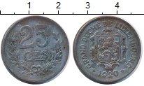 Изображение Монеты Люксембург 25 сантим 1920 Железо XF Герб