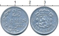 Изображение Монеты Люксембург 25 сантим 1954 Алюминий XF Герб