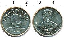 Изображение Монеты Свазиленд 1 лилангени 2005 Латунь UNC- Мсвати III