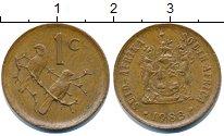 Изображение Монеты ЮАР 1 цент 1983 Бронза XF Птички