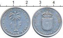 Изображение Монеты Руанда 1 франк 1957 Алюминий XF Пальма