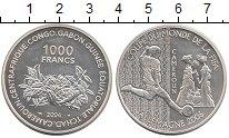 Изображение Монеты Камерун 1.000 франков 2004 Серебро Proof- Футбол