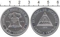 Изображение Монеты Никарагуа 50 кордоба 1975 Серебро UNC 200 - летие  независ