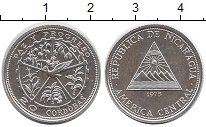 Изображение Монеты Никарагуа 20 кордоба 1975 Серебро Proof-