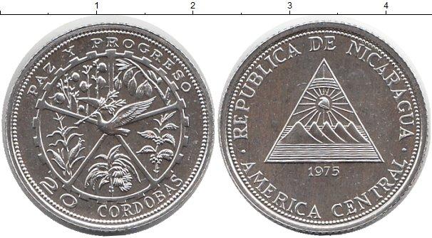 Картинка Монеты Никарагуа 20 кордоба Серебро 1975