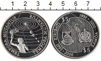 Изображение Монеты Кирибати 5 долларов 2000 Серебро Proof Парад  планет