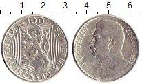 Изображение Монеты Чехословакия 100 крон 1949 Серебро  Сталин