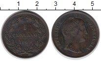 Изображение Монеты Венесуэла 1 сентаво 1862 Медь XF Свобода