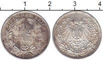 Изображение Монеты Германия 1/2 марки 1908 Серебро XF+