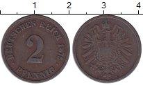 Изображение Монеты Германия 2 пфеннига 1875 Медь XF