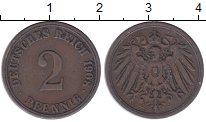Изображение Монеты Германия 2 пфеннига 1908 Медь XF