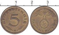 Изображение Монеты Третий Рейх 5 пфеннигов 1939 Латунь XF G