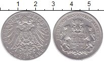Изображение Монеты Гамбург 2 марки 1898 Серебро XF-