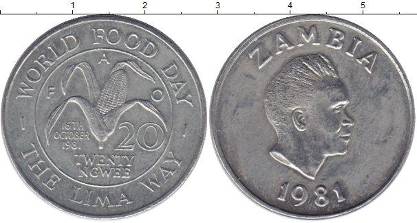 Картинка Монеты Замбия 20 нгвей Медно-никель 1981