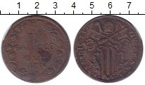 Изображение Монеты Ватикан 1 байоччи 1756 Медь XF-