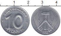 Изображение Монеты ГДР 10 пфеннигов 1953 Алюминий XF