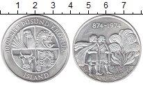 Изображение Монеты Исландия 1.000 крон 1974 Серебро UNC 1100  лет  первого