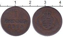 Изображение Монеты Германия Саксония 1 пфенниг 1815 Медь VF
