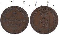 Изображение Монеты Рейсс 3 пфеннига 1868 Медь XF А ,Герб,лев