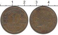 Изображение Монеты Французская Западная Африка 1 франк 1944 Латунь XF-
